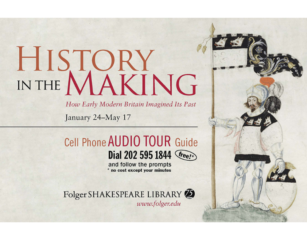 Folger Shakespeare Library offers an audio guide for their exhibit.