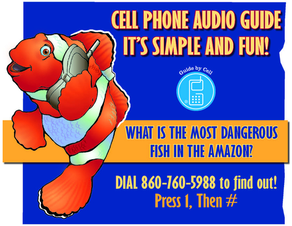 Cell phone audio guide for Aquarium.
