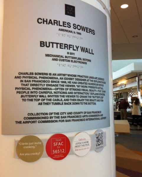 San Francisco Arts Commission at the Airport, text-in to hear more.