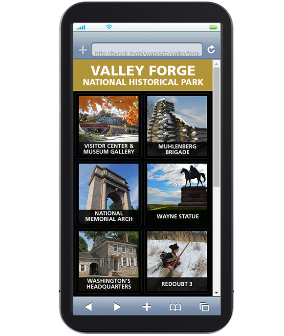 Valley Forge National Historical Park's tour is also accessible via smartphone.
