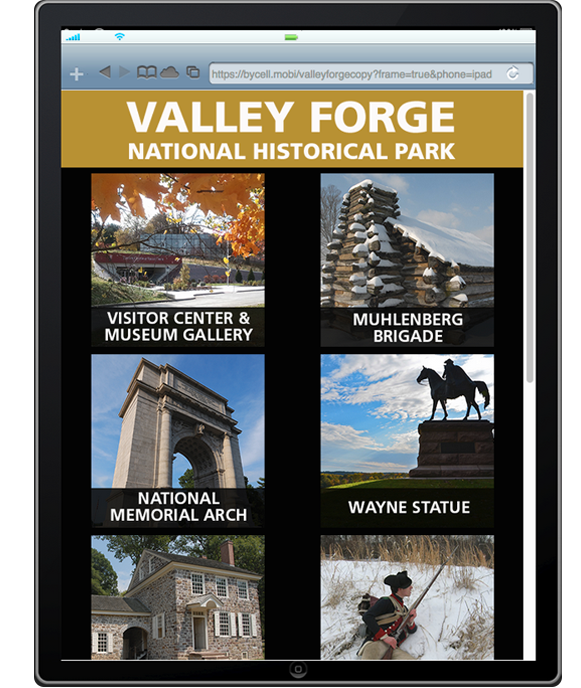 Valley Forge National Historical Park offers a guided tour available on tablet.