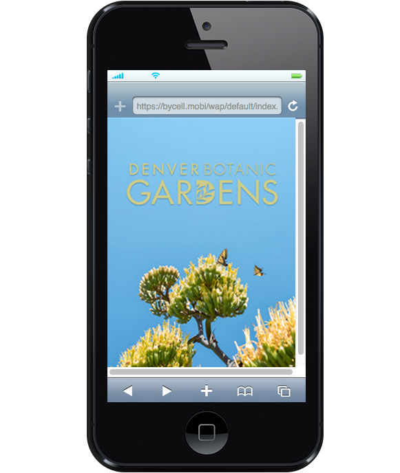 Denver Botanical Gardens offers a smartphone version tour.