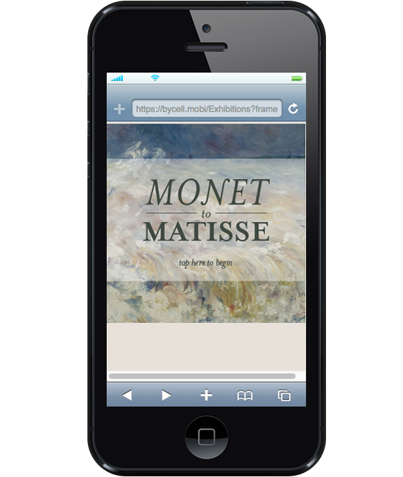 Monet to Matisse exhibit via smartphone tour.