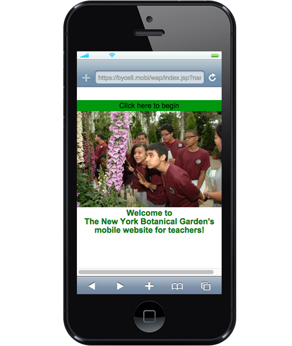 The New York Botanical Garden's offers a special mobile website for teachers.