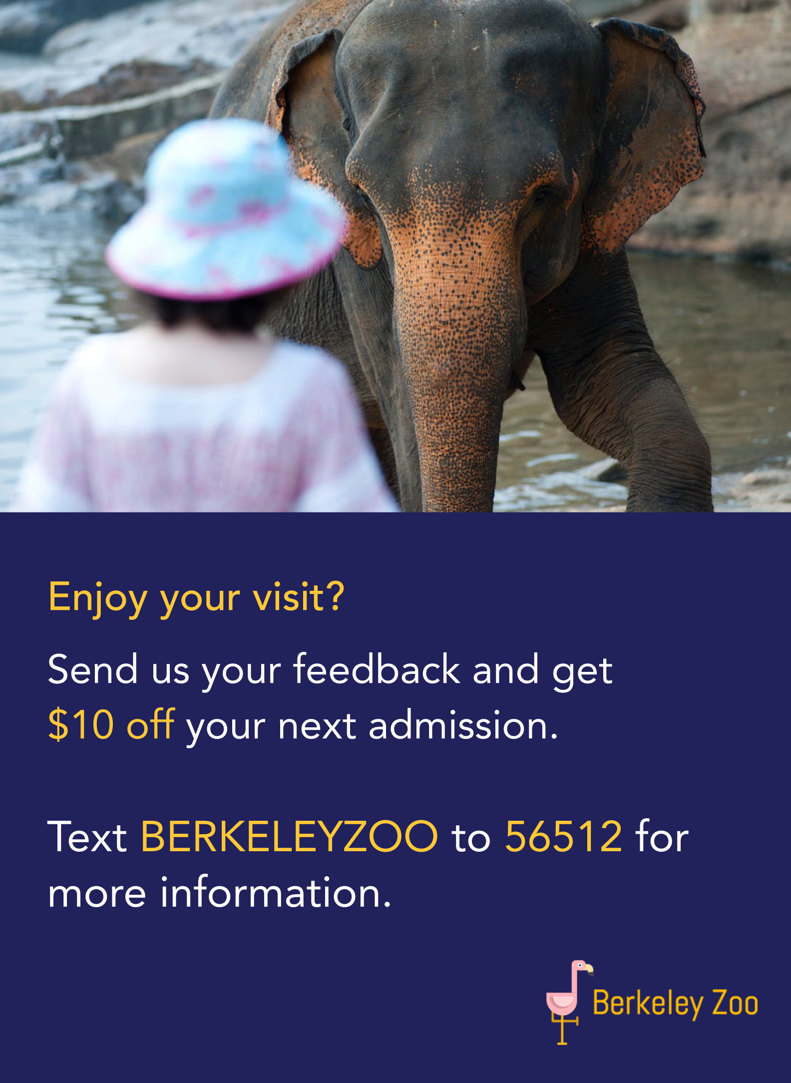 Send feedback for $10 off admission